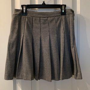 Forever 21 Pleated Houndstooth Print Skirt